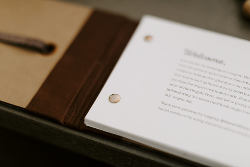 Intro copy for client guest book
